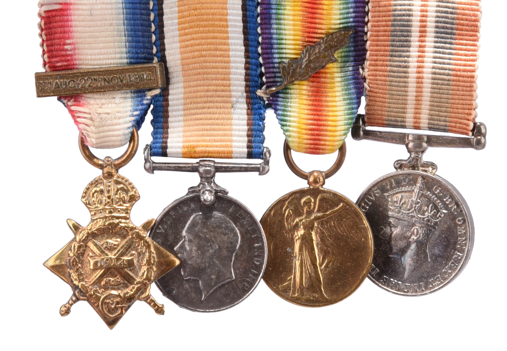 The Great War P.O.W. group of four medals to Captain (later Lieutenant-Colonel) Arthur Stewart- - Image 2 of 7