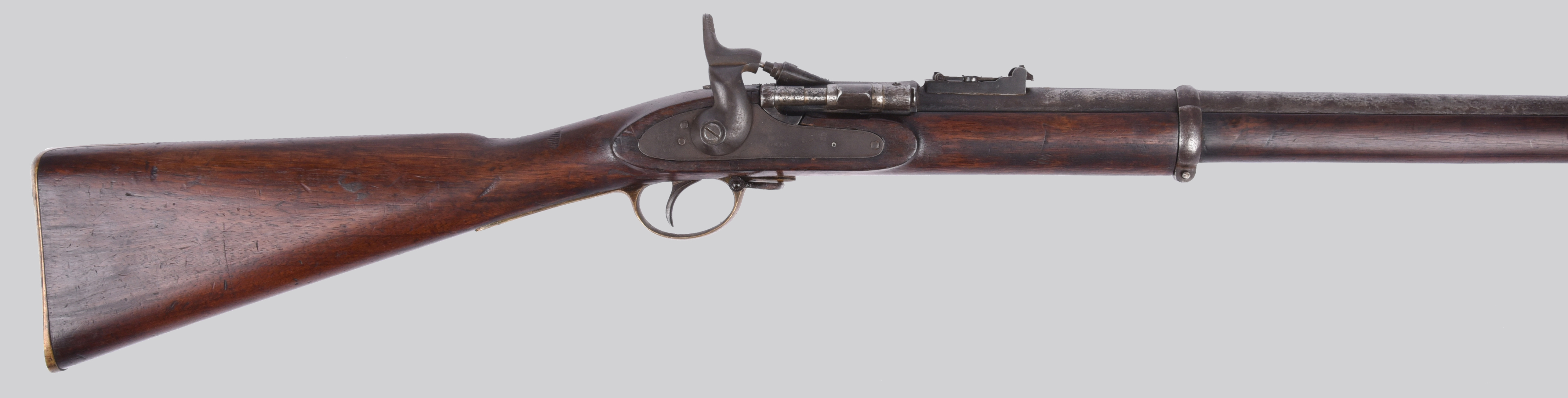 A .577 Snider Enfield three-band service rifle, barrel 36.5 in., breech with sold-out-of-service