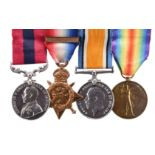A Great War Distinguished Conduct Medal group of four medals to Sergeant Henry Bradley, King's Own