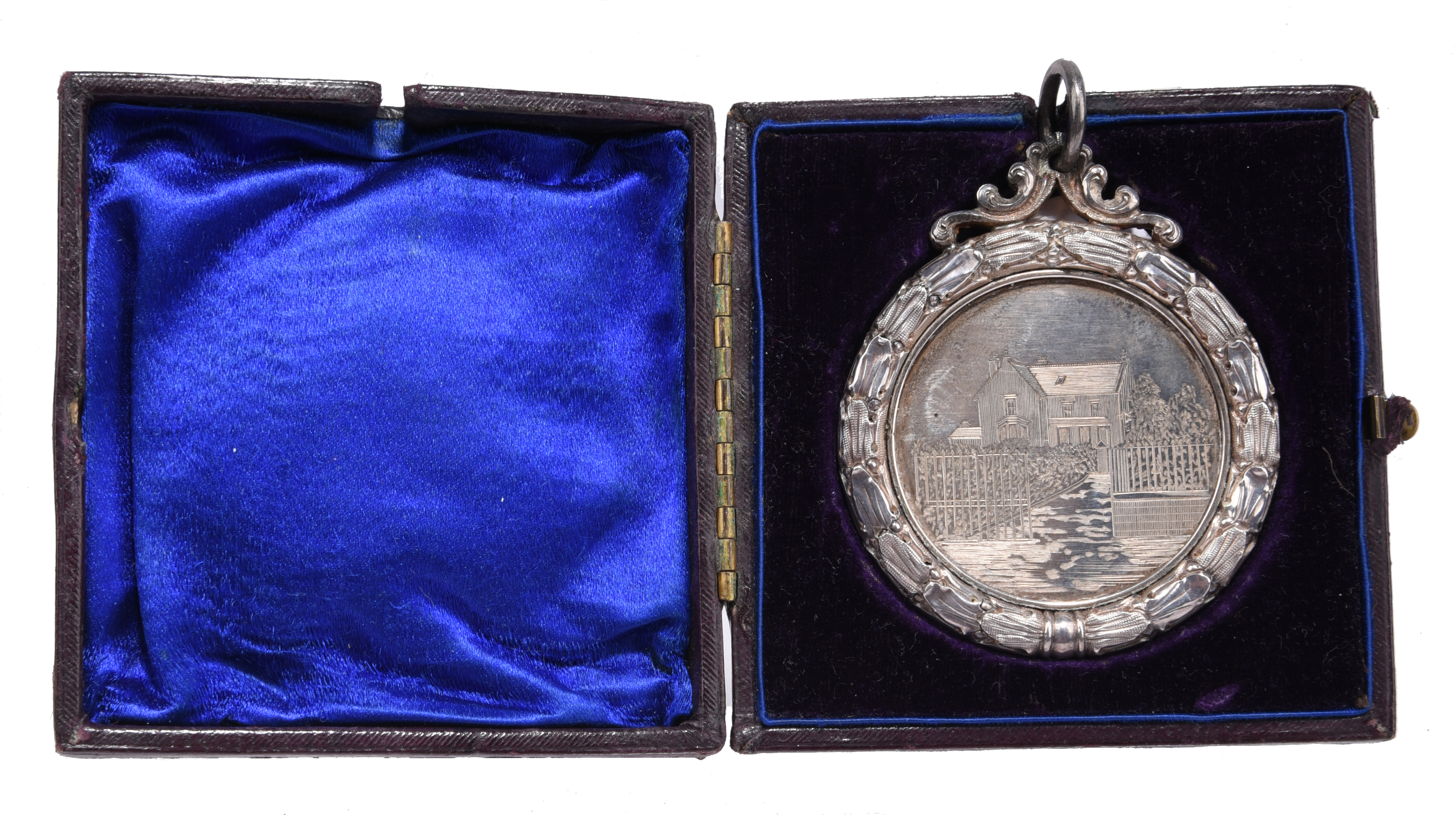 Scotland: Brechin High School 1888-9: an engraved silver prize medal, 58mm, view of the school, rev. - Image 3 of 3
