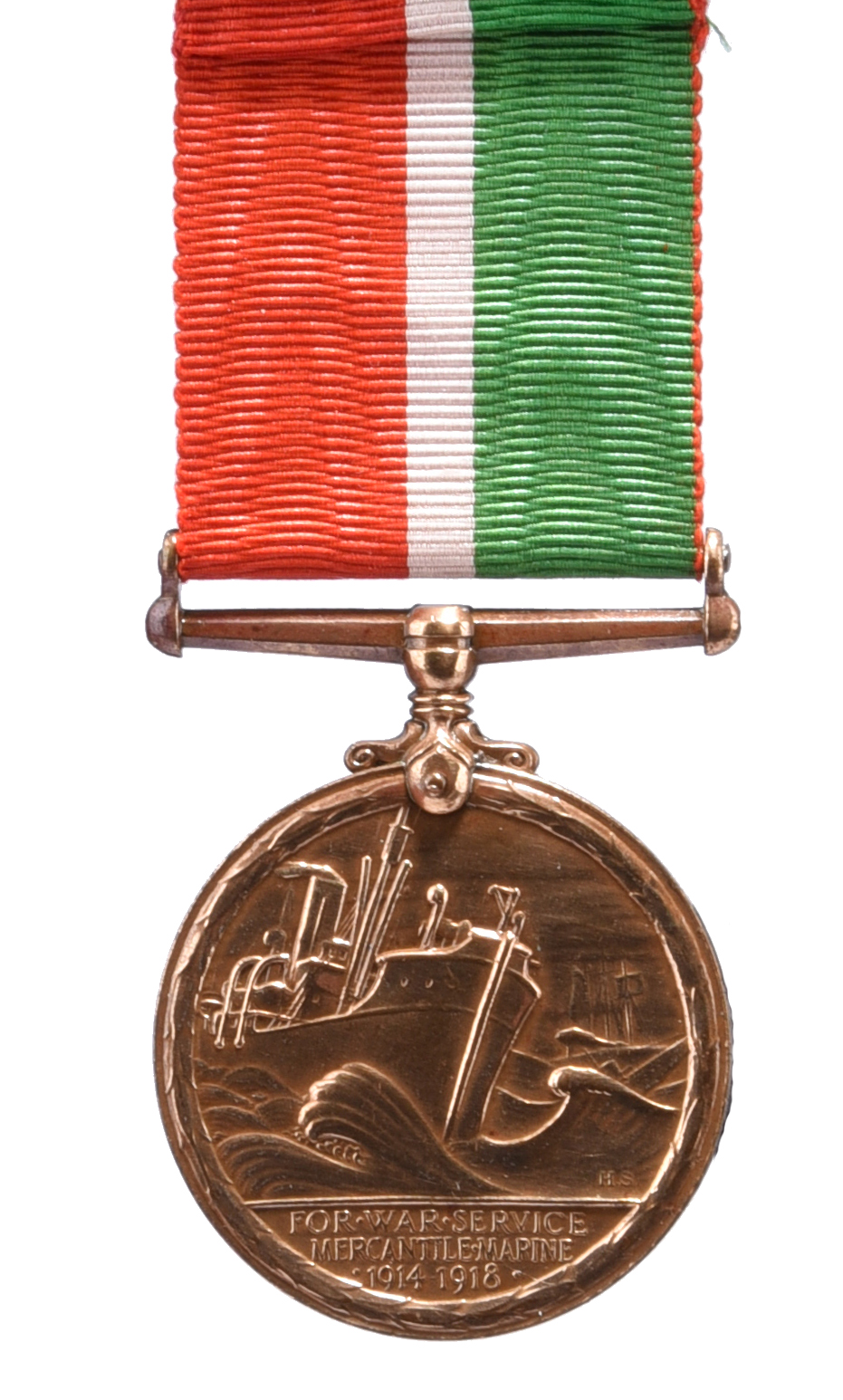 A Great War casualty Mercantile Marine War Medal to Frank Axel Rodman, S S Mordenwood (Frank A. - Image 3 of 3