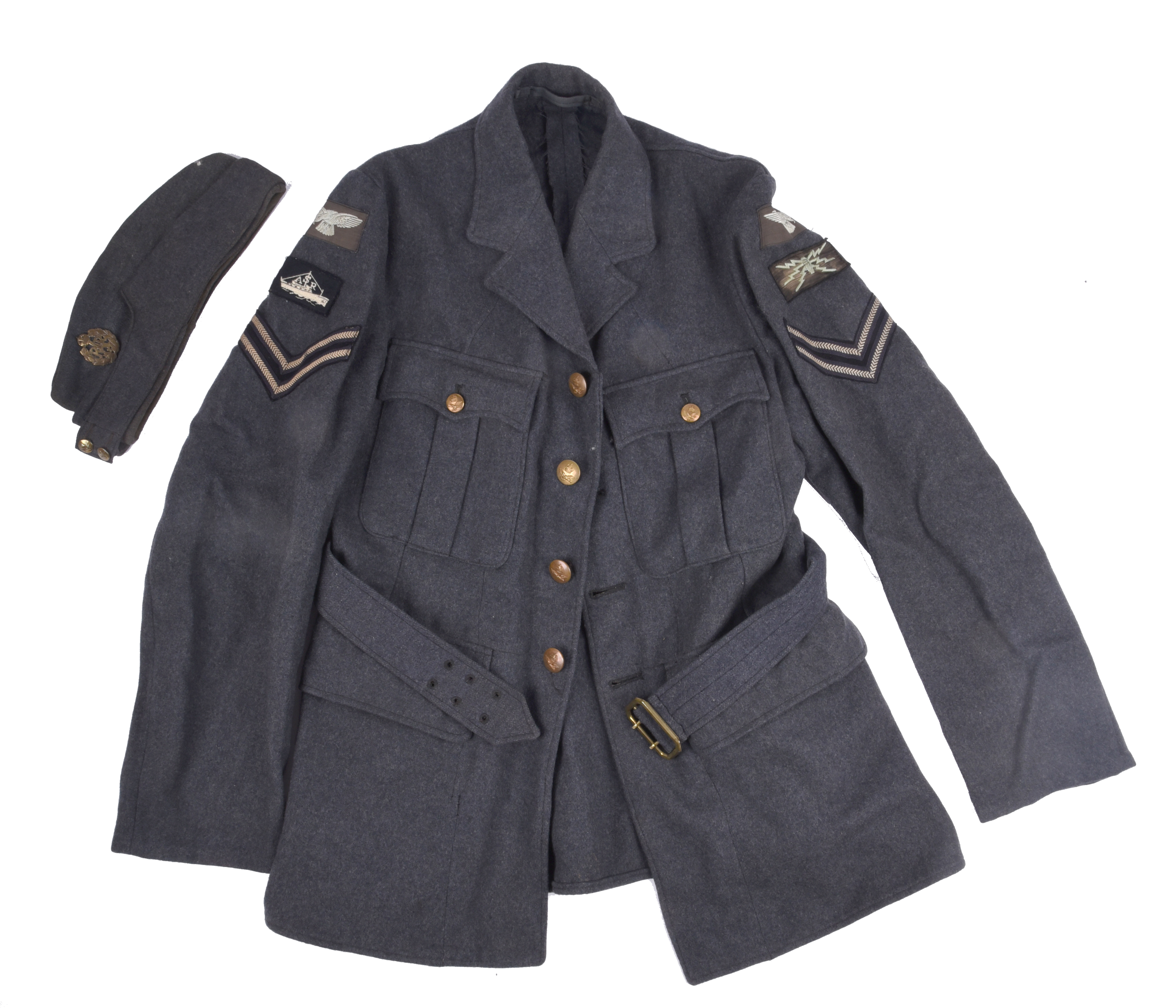 A scarce Second World War Air Sea Rescue corporal's jacket, with fabric insignia including