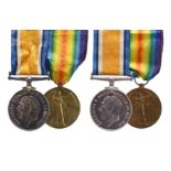 A Great War Pair to Private Charles Miller, Machine Gun Corps: British War and Victory Medals (55894