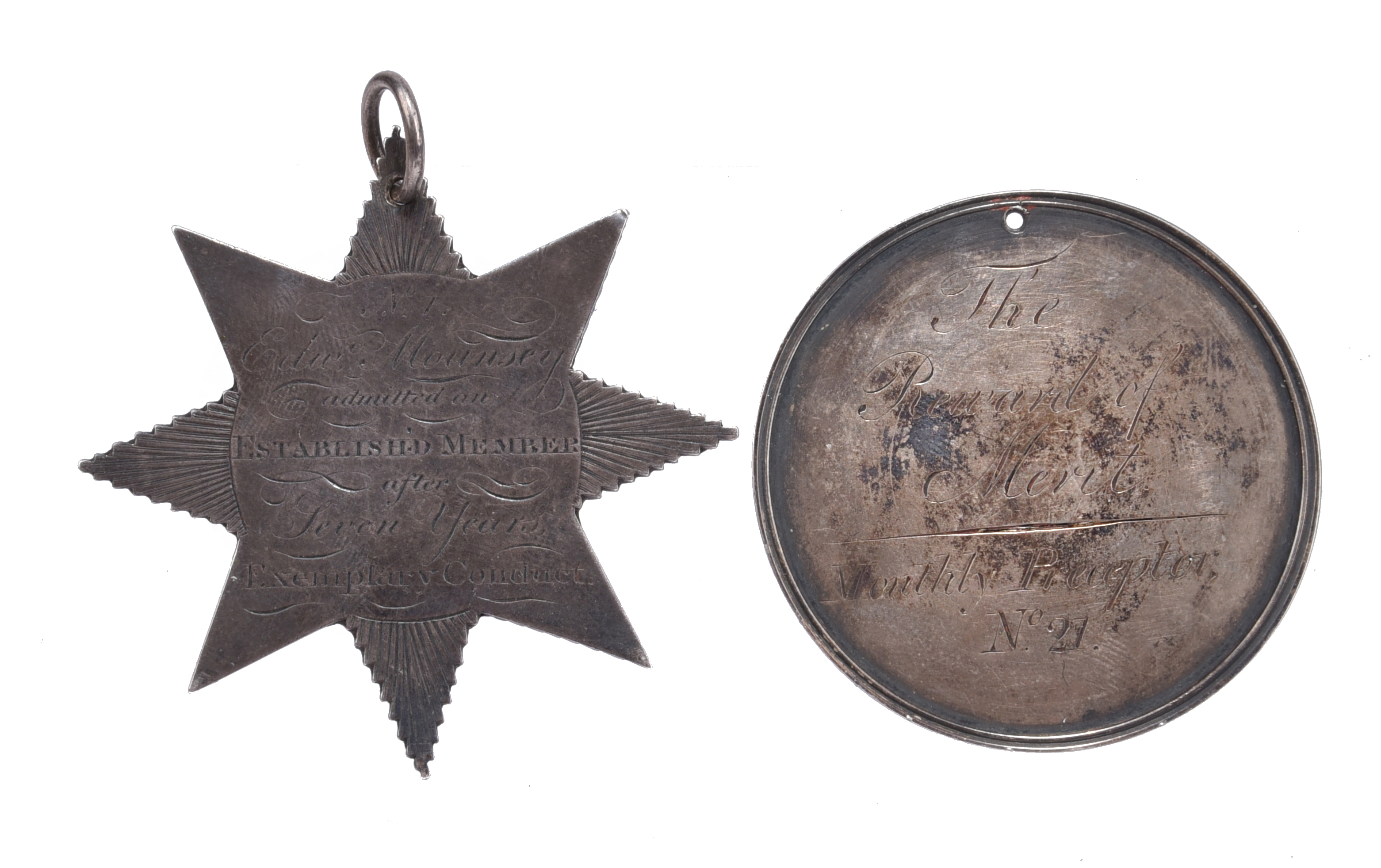 Education: two English engraved silver medals: Circus Street School Liverpool Class of Honour - Image 2 of 2