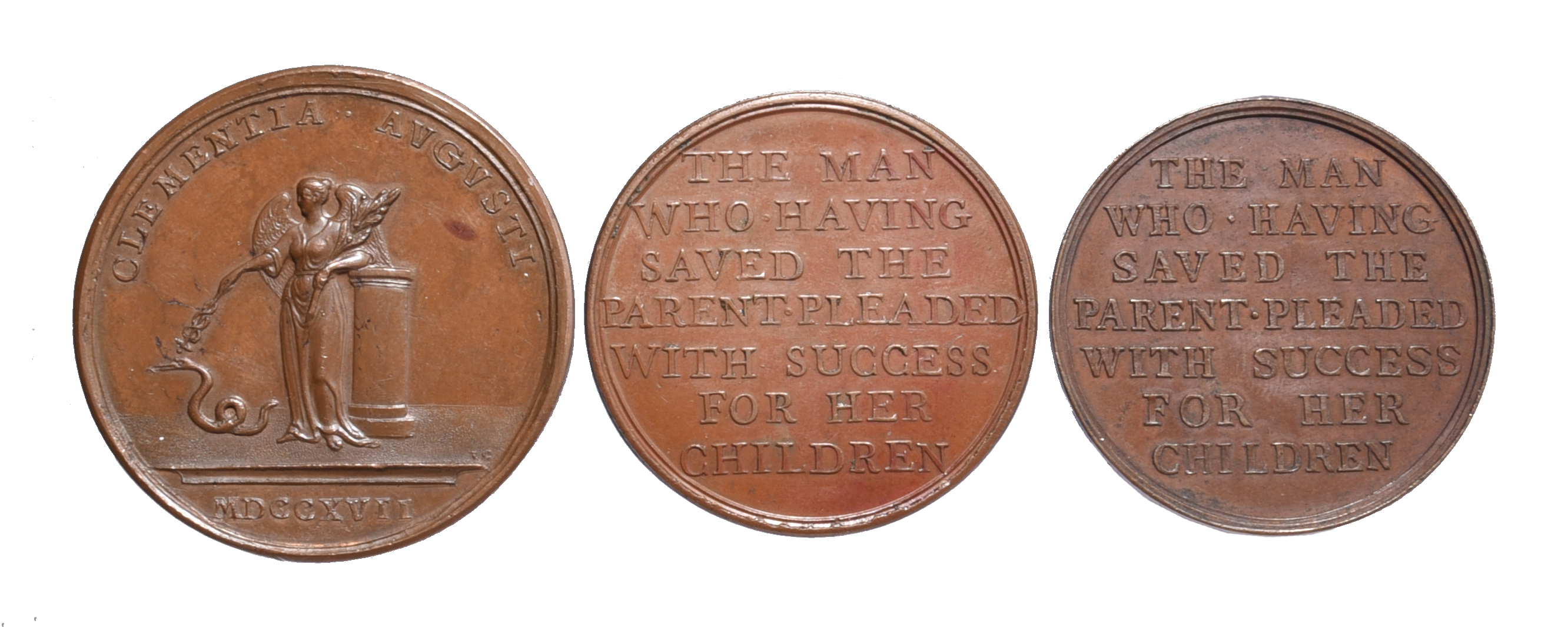 Great Britain: political commemorative medals (3): Act of Grace and Free Pardon 1717, AE, 45 mm, - Image 2 of 2
