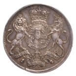City of London: a Broker's Badge, silver, 41mm, royal arms and supporters, rev. city arms,