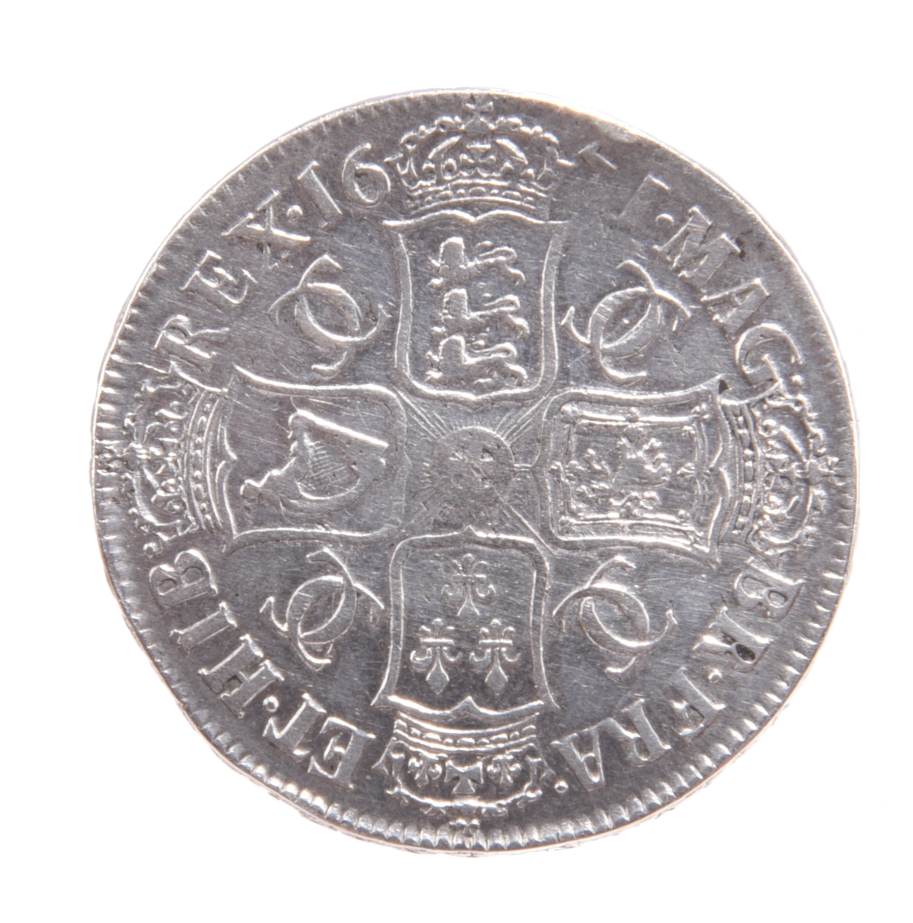 Charles II, silver crown, 1671, second bust, edge V. TERTIO (S 3357), cleaned, good fine. - Image 2 of 2