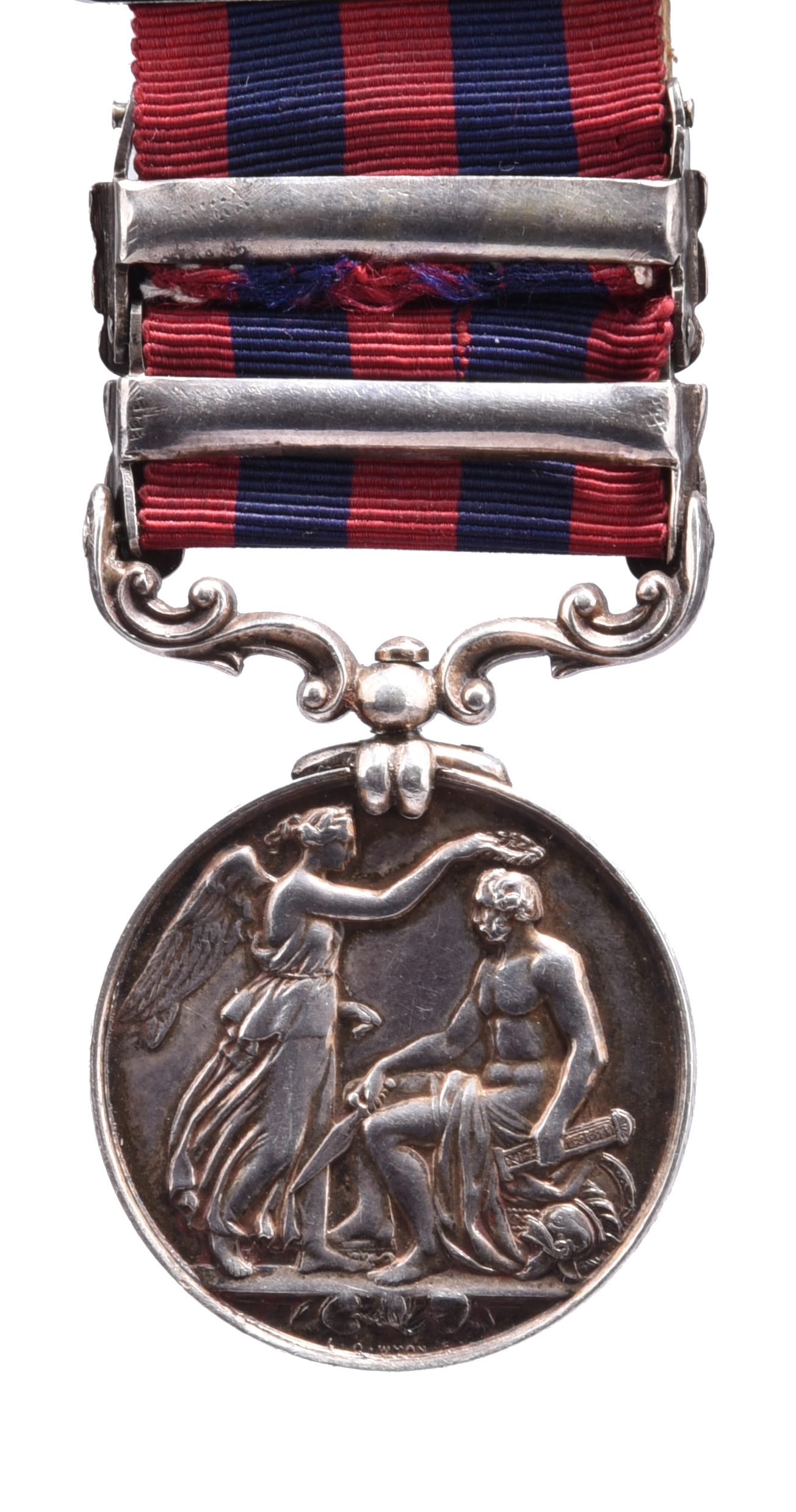 An India General Service Medal 1849-95 to Private T. Earl, Royal West Surrey Regiment: 2 clasps: - Image 2 of 2