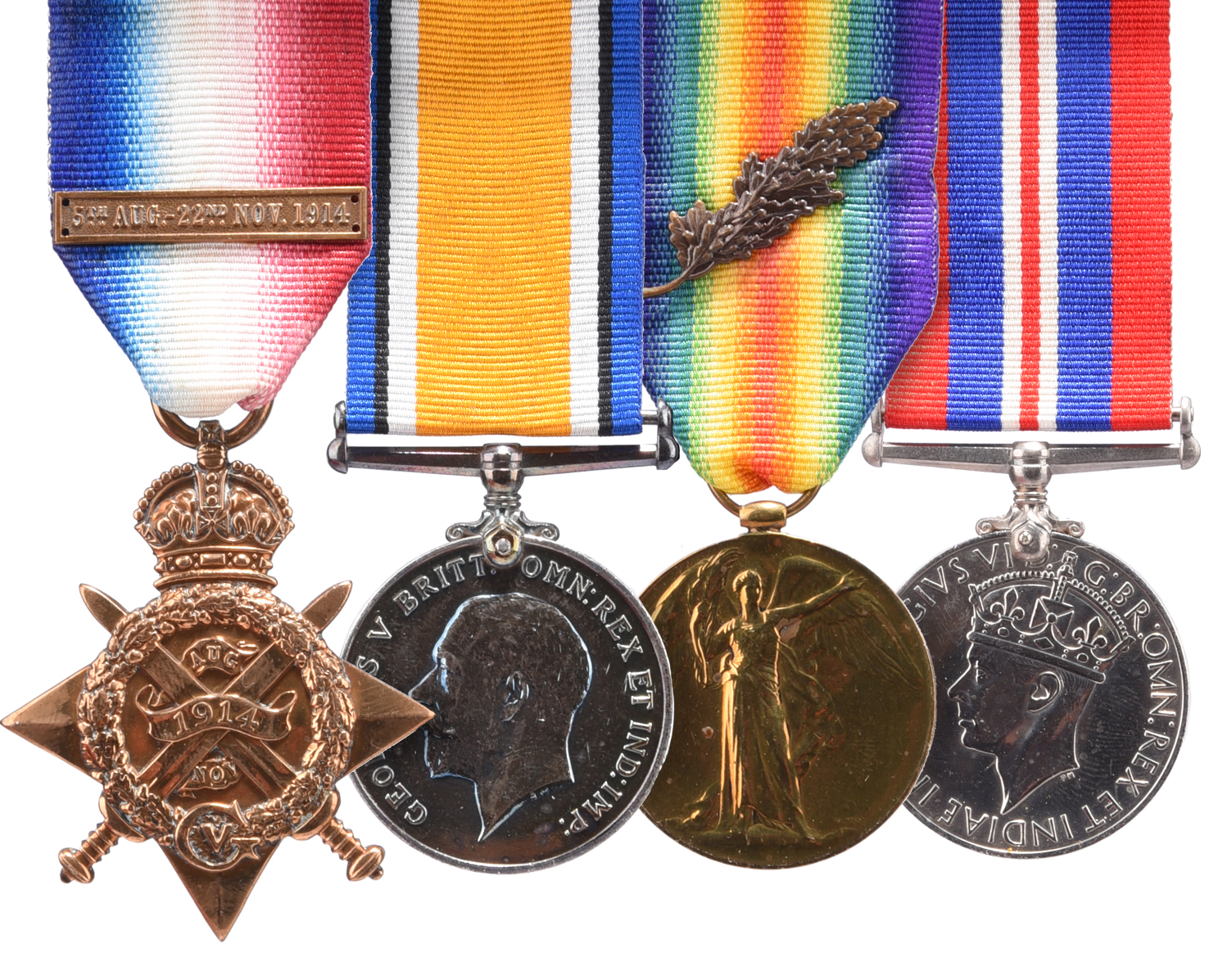 The Great War P.O.W. group of four medals to Captain (later Lieutenant-Colonel) Arthur Stewart-