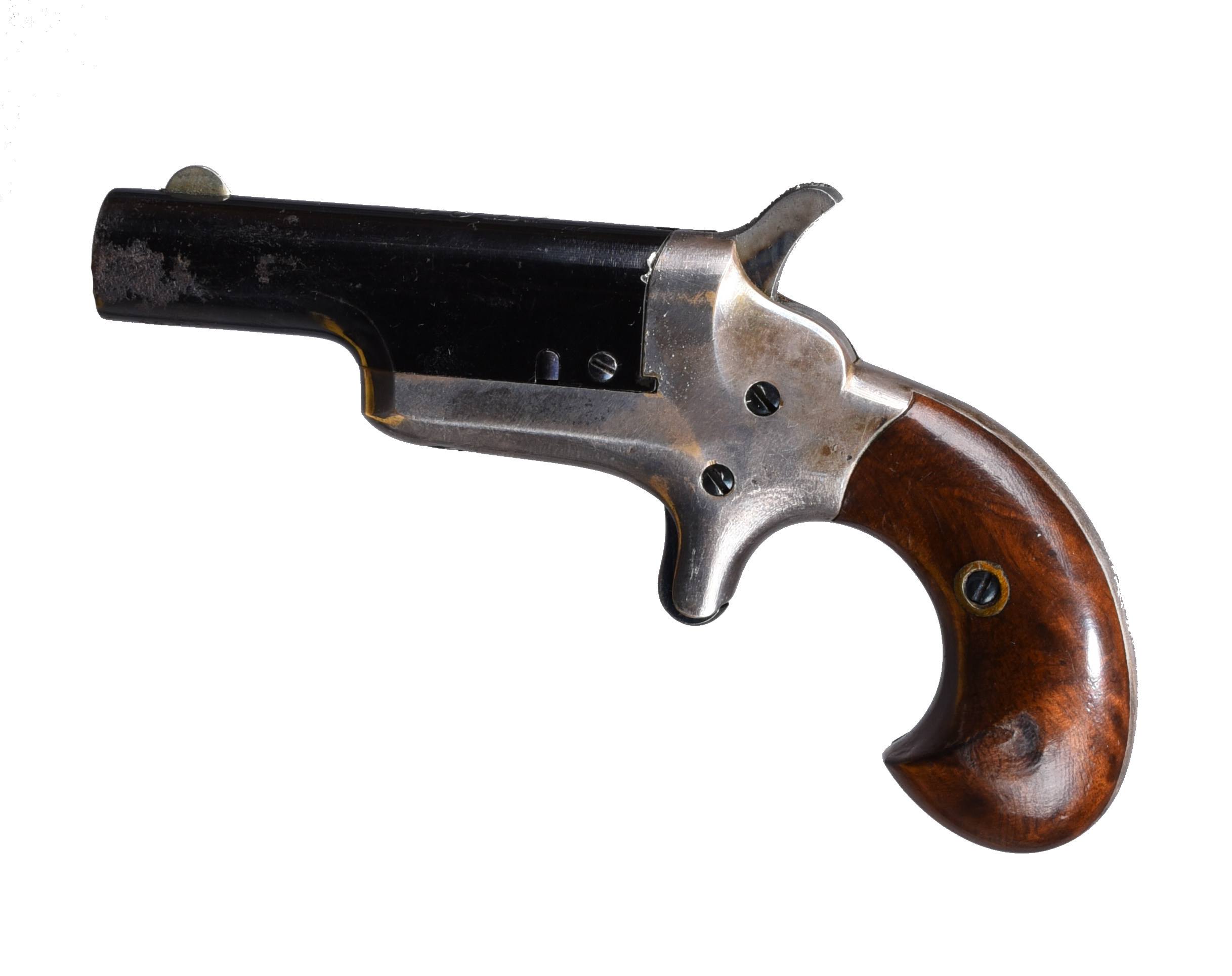 A Colt .41 rimfire Thuer patent 'Third Model' derringer, 2.5 in. blued barrel with foresight and - Image 4 of 4
