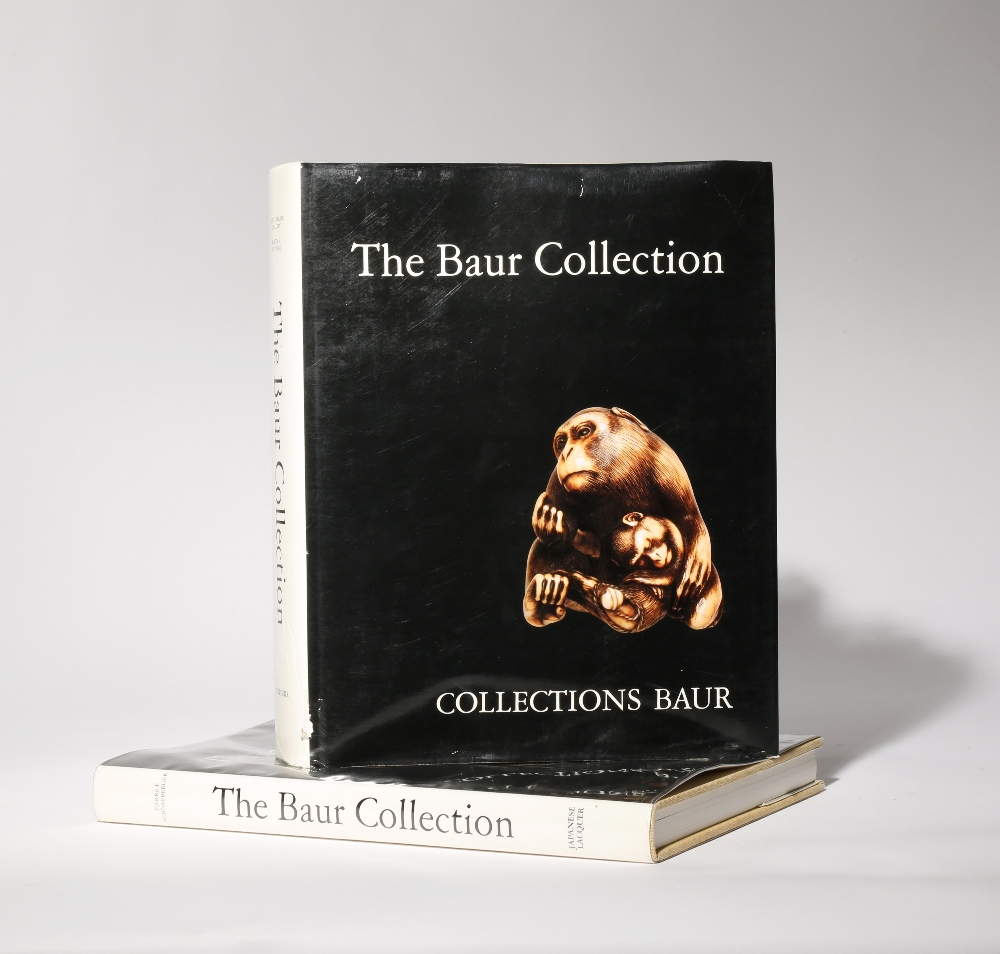 LITERATURE THE BAUR COLLECTION Two volumes, one dedicated to netsuke and the other to Japanese