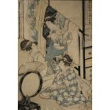 UTAMARO KITAGAWA (ACT. 1753-1806) EDO PERIOD, EARLY 19TH CENTURY A woodblock print on paper, part of