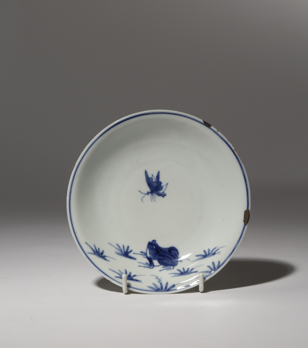 A CHINESE KO-SOMETSUKE DISH FOR THE JAPANESE MARKET TIANQI 1621-27 Decorated in underglaze blue with