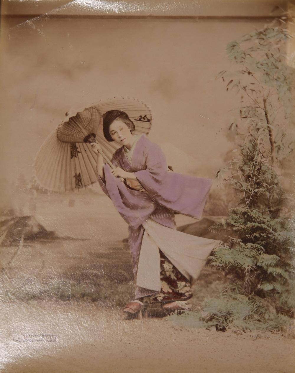KUSAKABE KIMBEI (1841-1934) MEIJI PERIOD, 19TH CENTURY A Japanese hand-coloured albumen print