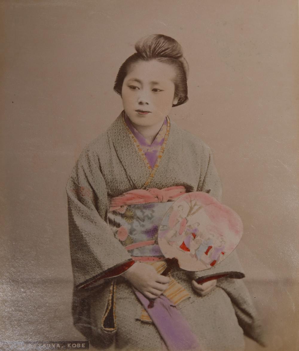 KUSAKABE KIMBEI (1841-1934) MEIJI PERIOD, 19TH CENTURY A Japanese hand-coloured albumen print - Image 7 of 7
