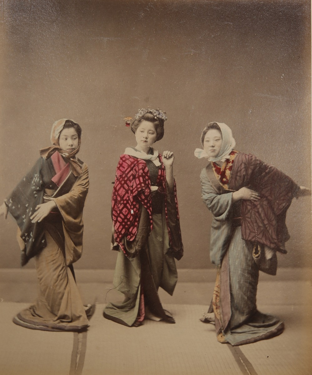 KUSAKABE KIMBEI (1841-1934) MEIJI PERIOD, 19TH CENTURY A Japanese hand-coloured albumen print - Image 2 of 7