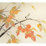 A JAPANESE SCROLL PAINTING, KAKEMONO MODERN, 20TH CENTURY In ink and colour on silk, depicting a