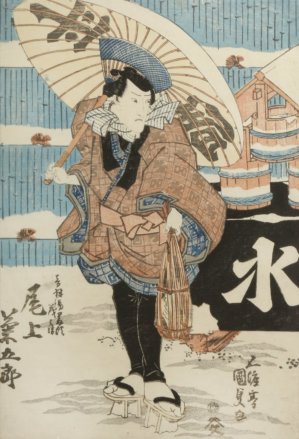 A SMALL COLLECTION OF SIX JAPANESE WOODBLOCK PRINTS EDO AND MEIJI PERIOD, 19TH CENTURY Variously - Image 5 of 6
