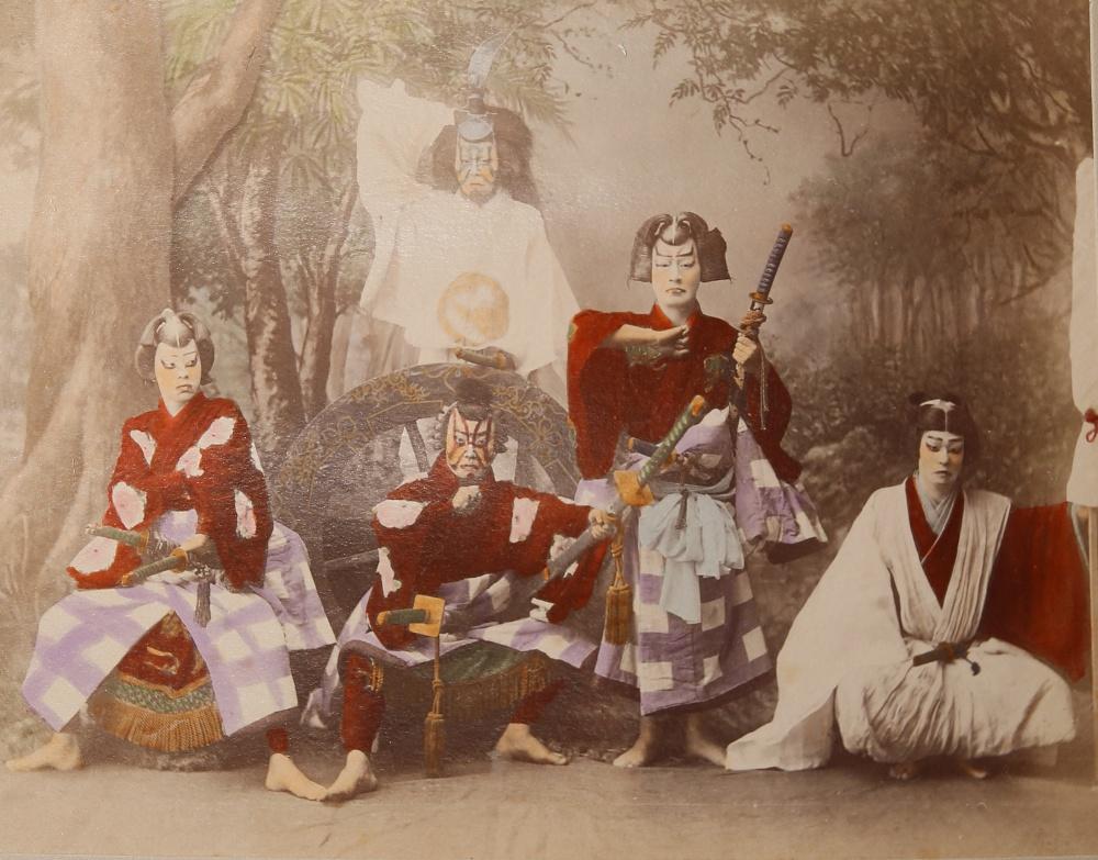 KUSAKABE KIMBEI (1841-1934) MEIJI PERIOD, 19TH CENTURY A Japanese hand-coloured albumen print - Image 5 of 7