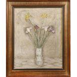 SEI KOYANAGUI (1896-1948) TAISHO OR SHOWA ERA, 20TH CENTURY Les Iris, oil on canvas, depicting seven