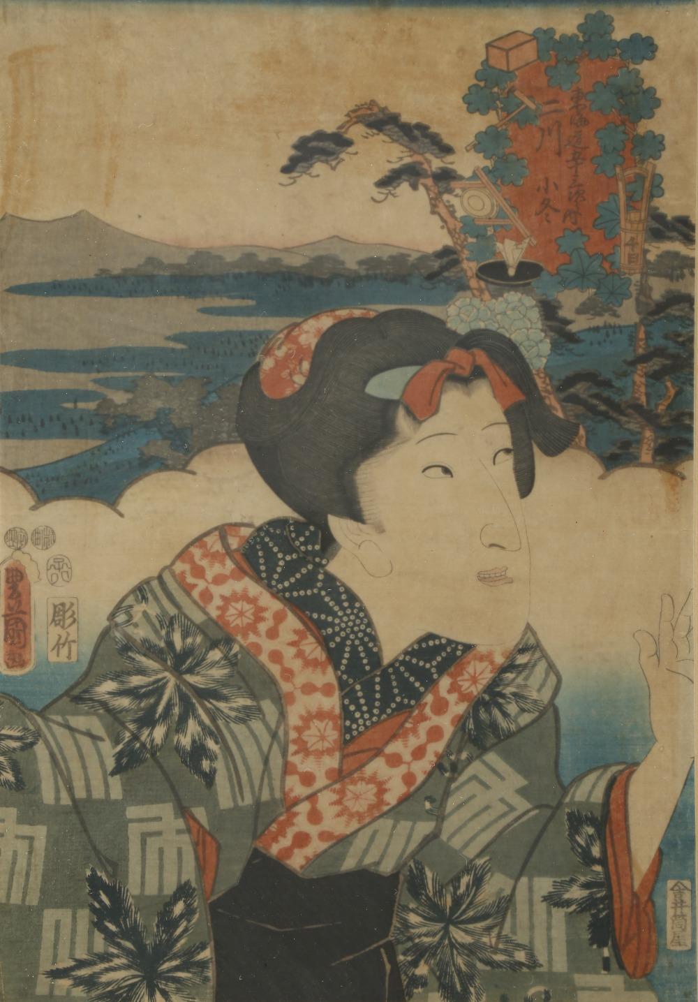 A COLLECTION OF TWELVE JAPANESE WOODBLOCK PRINTS BY UTAGAWA KUNISADA (1786-1864) MEIJI PERIOD, - Image 9 of 12