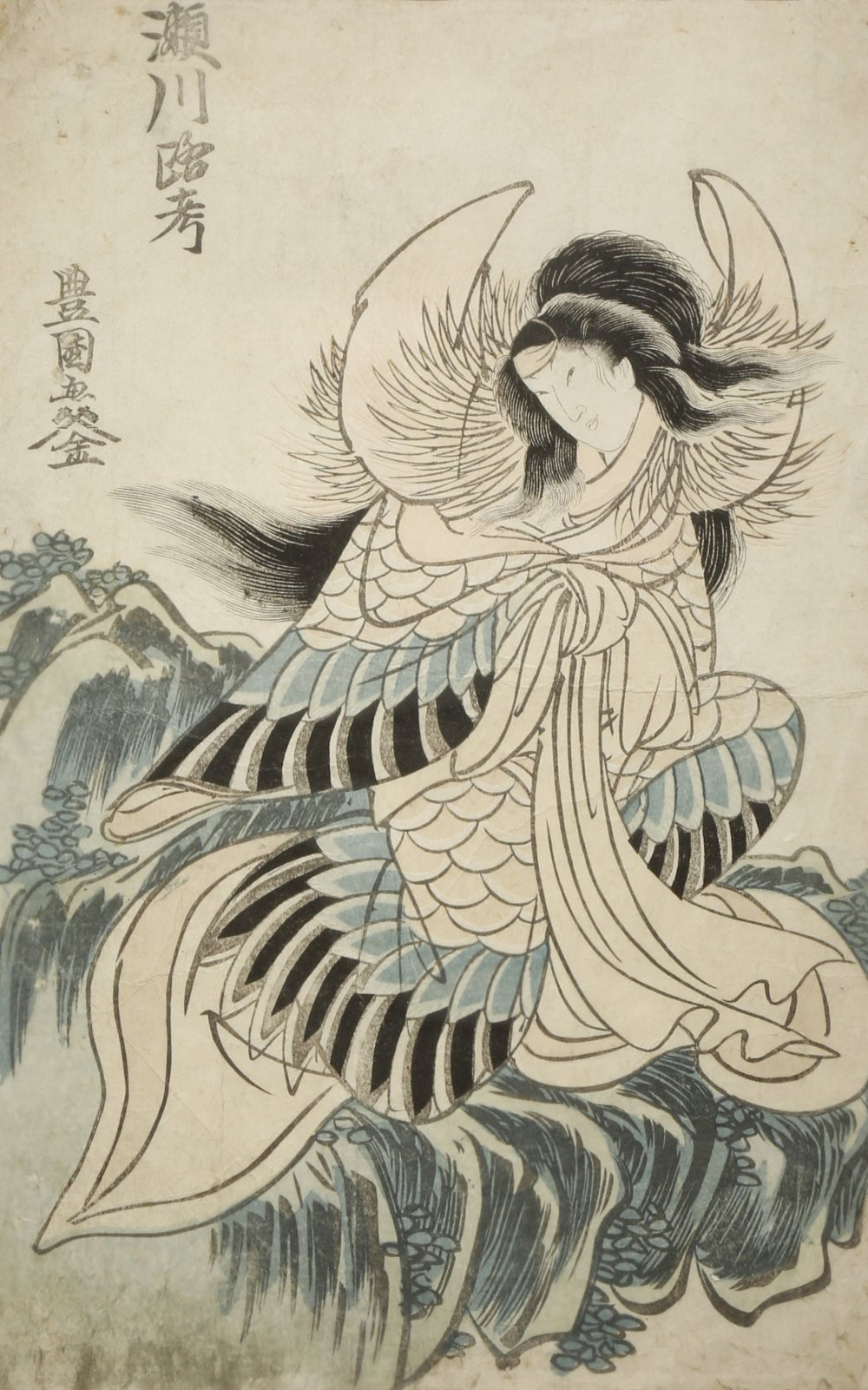 A SMALL COLLECTION OF SIX JAPANESE WOODBLOCK PRINTS EDO AND MEIJI PERIOD, 19TH CENTURY Variously - Image 3 of 6