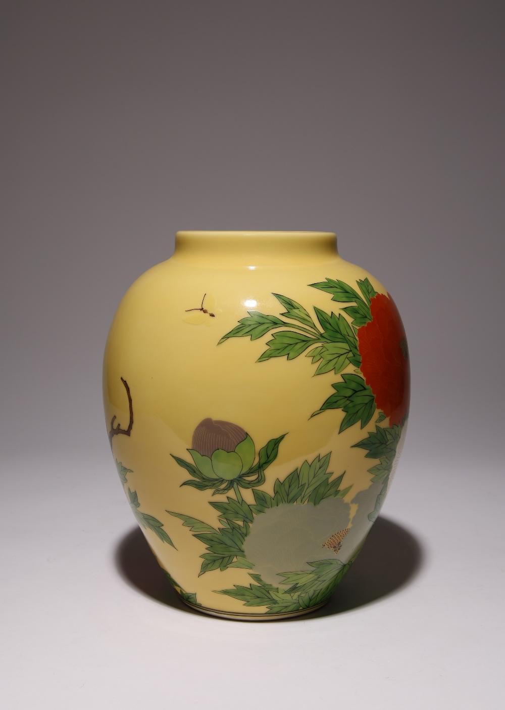 A JAPANESE VASE BY SEIFU YOHEI III (1851-1914) MEIJI OR TAISHO PERIOD, 20TH CENTURY The ovoid body