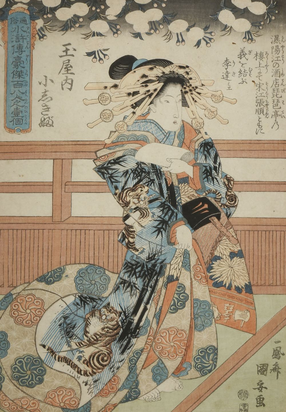 A SMALL COLLECTION OF SIX JAPANESE WOODBLOCK PRINTS EDO AND MEIJI PERIOD, 19TH CENTURY Variously