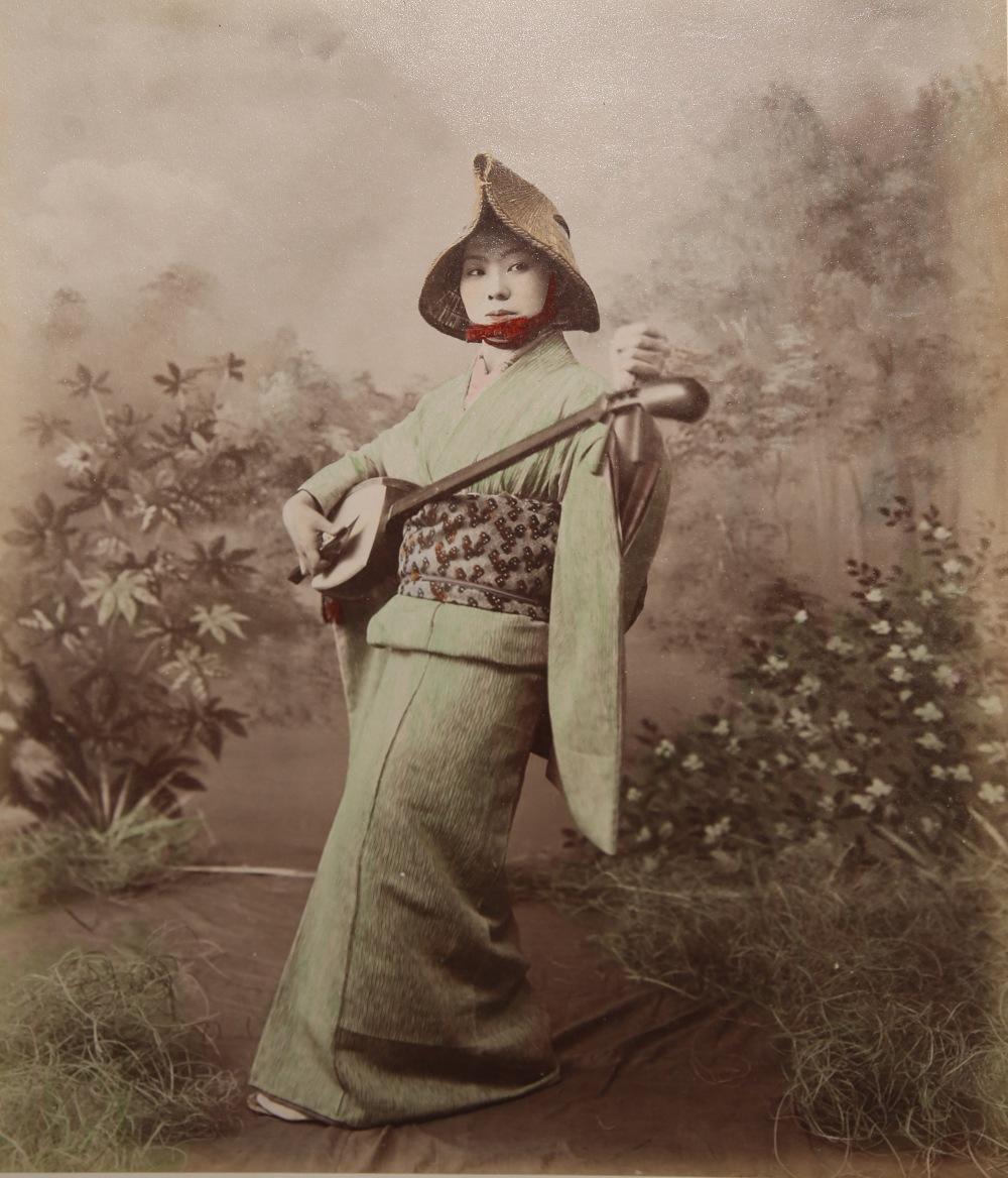 KUSAKABE KIMBEI (1841-1934) MEIJI PERIOD, 19TH CENTURY A Japanese hand-coloured albumen print - Image 3 of 7