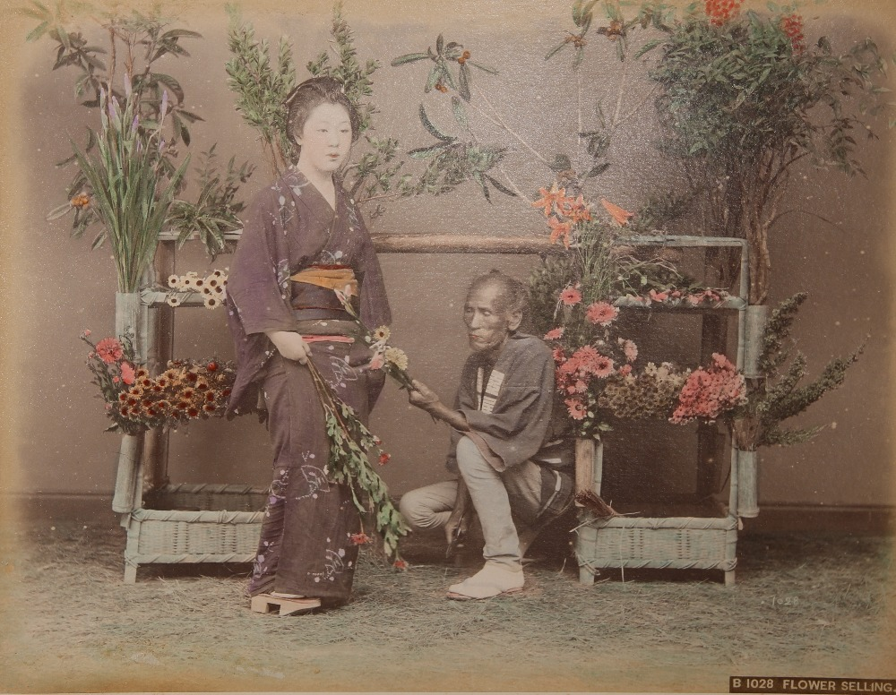 KUSAKABE KIMBEI (1841-1934) MEIJI PERIOD, 19TH CENTURY A Japanese hand-coloured albumen print - Image 4 of 7