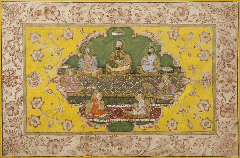ANONYMOUS (18TH/19TH CENTURY) THE MUGHAL EMPEROR JAHANGIR AND THE MUGHAL HOUSE FROM TIMUR TO