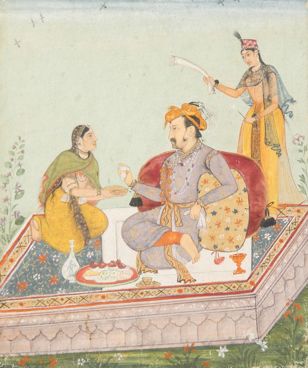 ANONYMOUS (18TH/19TH CENTURY) THE MUGHAL EMPEROR JAHANGIR AND THE MUGHAL HOUSE FROM TIMUR TO - Image 2 of 2