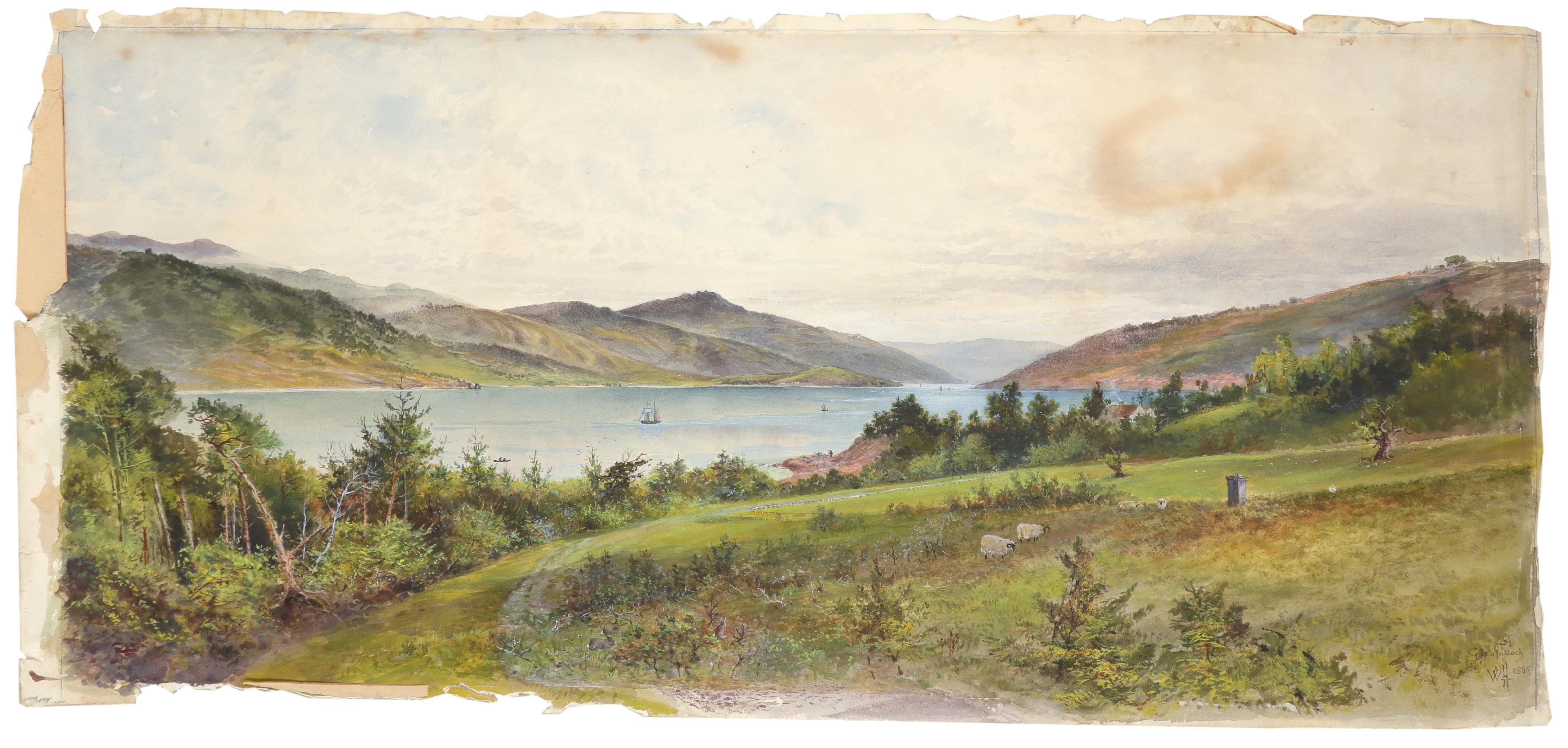 William Matthew Hodgkins (1833-1898) Glen Falloch - evening; Glen Falloch Two, the former signed - Image 5 of 6