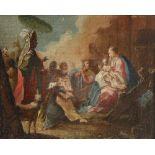 Francesco Fontebasso (Italian 1707-1769) The adoration of the Magi Oil on canvas 20.8 x 26.1cm; 8¼ x