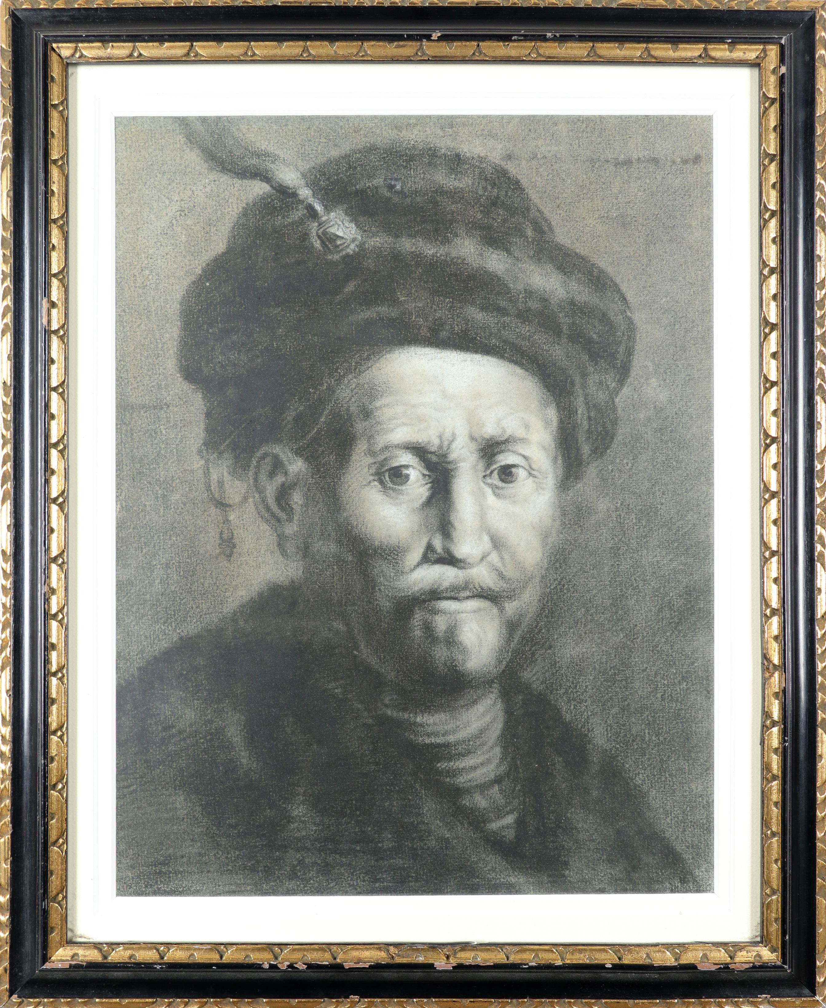 Thomas Worlidge (1700-1766) after Rembrandt van Rijn (Dutch 1606-1669) Bust of a man in a turban - Image 2 of 3