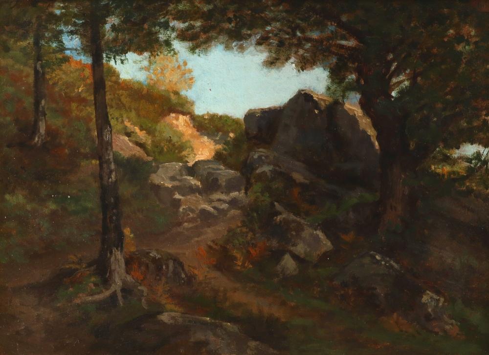 Auguste-Paul-Charles Anastasi (French 1820-1889) Sentier dans les Rochers à Pont-Aven, Bretagne