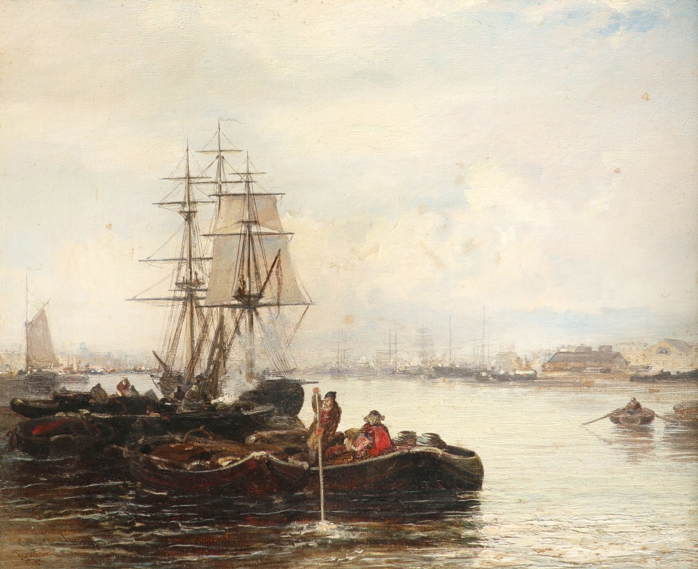 Arthur Joseph Meadows (1843-1907) On the Medway; Off the Dutch coast A pair, both signed and dated