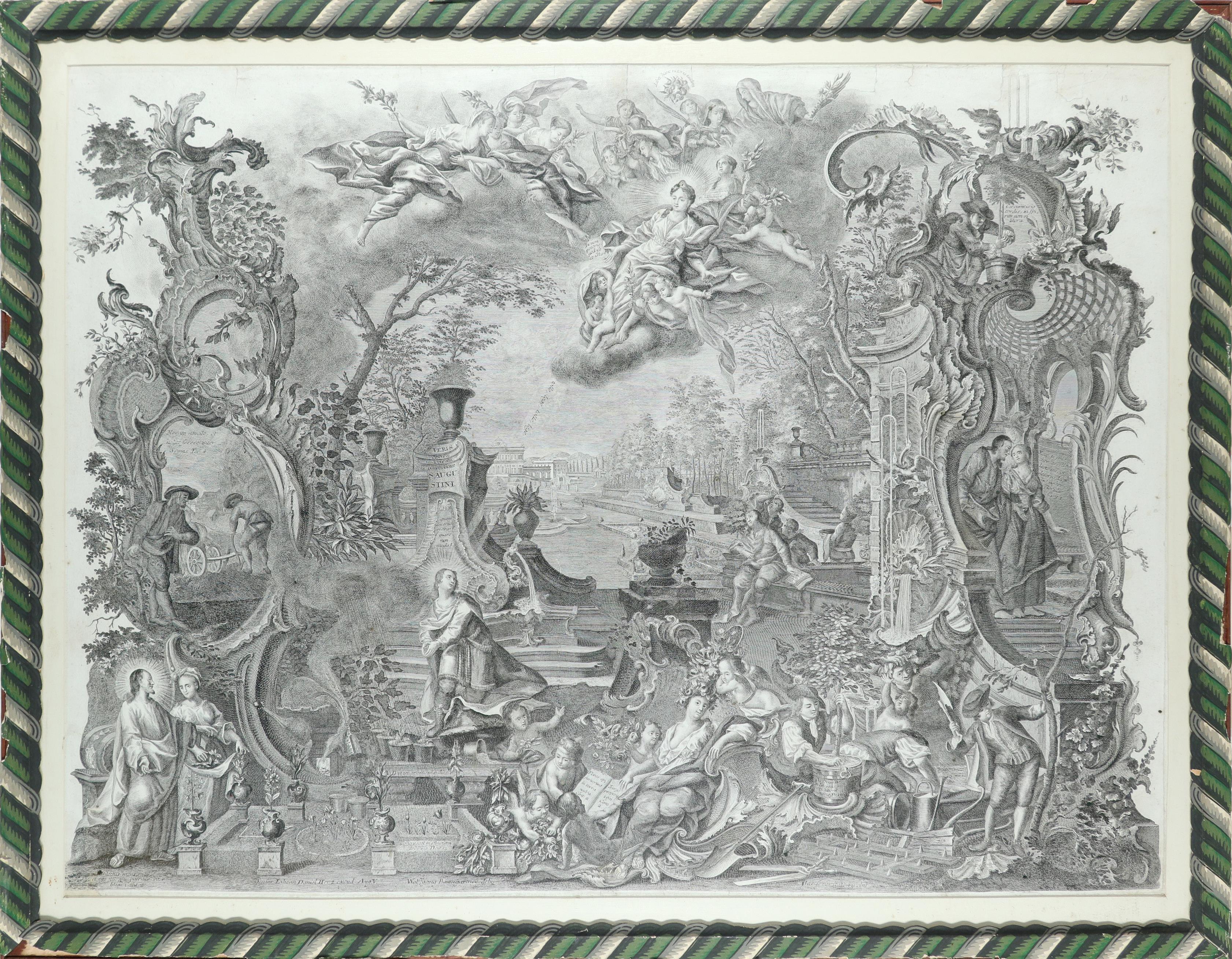After Johann Wolfgang Baumgartner (German 1702-1761) Saint Augustine Engraving, by Johann Daniel - Image 2 of 3