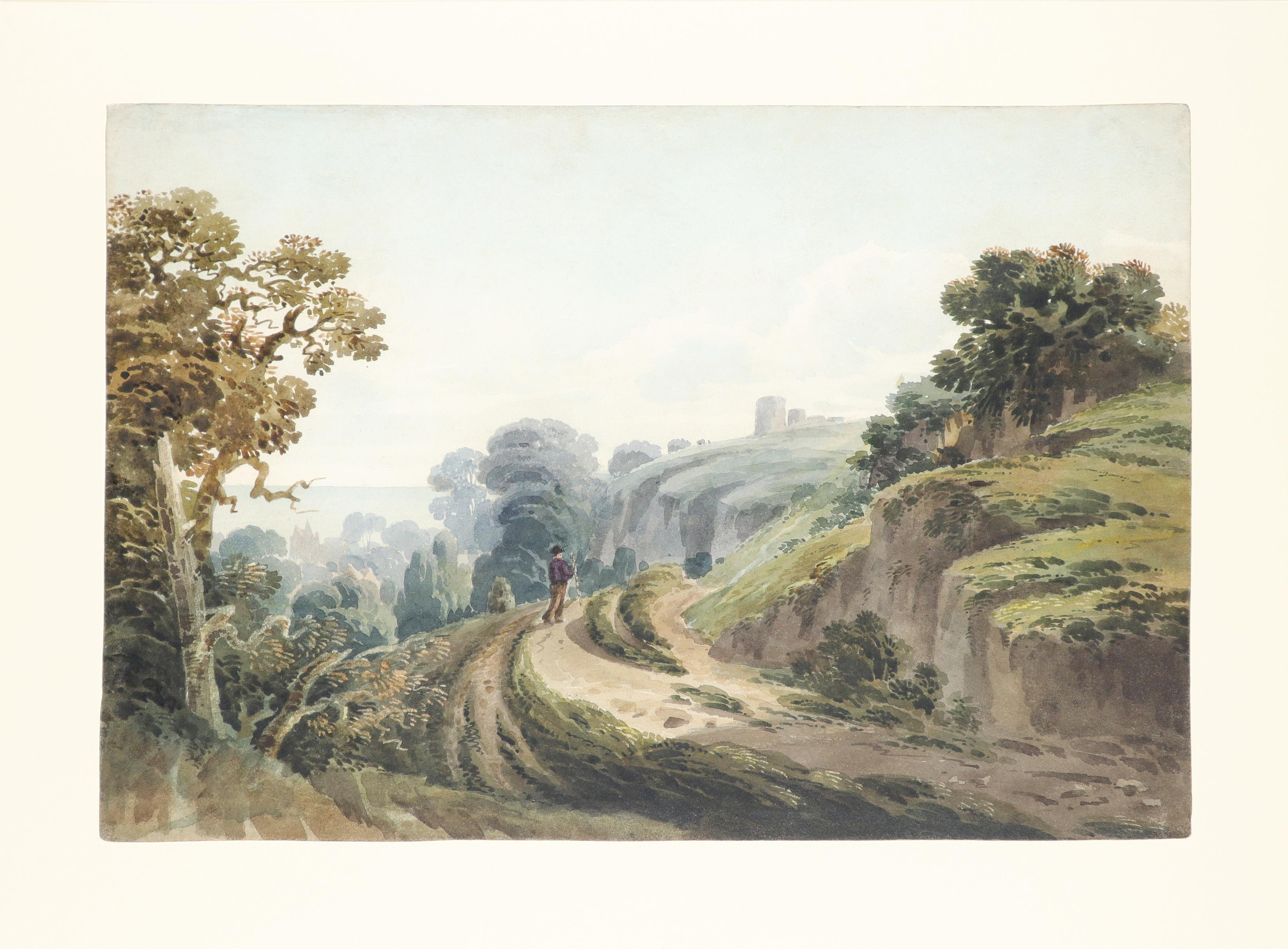 Circle of William Havell A view of Hastings from the west cliffs Watercolour and pencil 20.5 x 32. - Image 2 of 3