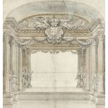 Jean Le Pautre (French 1618-1682) Design for a proscenium arch Pen and ink with grey wash 48.2 x