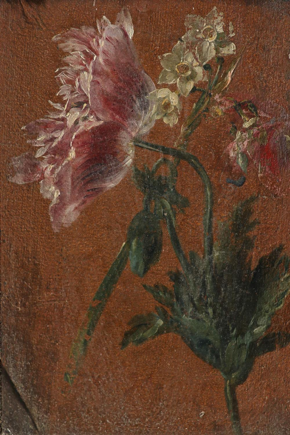 Dutch School 18th Century Study of lillies; Study of peonies A pair, both oil on canvas Each 26 x - Image 4 of 6