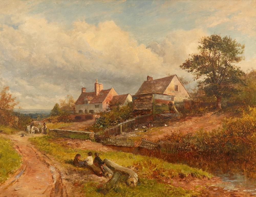 David Bates (1840-1921) A wayside inn near Malvern Signed and dated David Bates 1882 (lower left),
