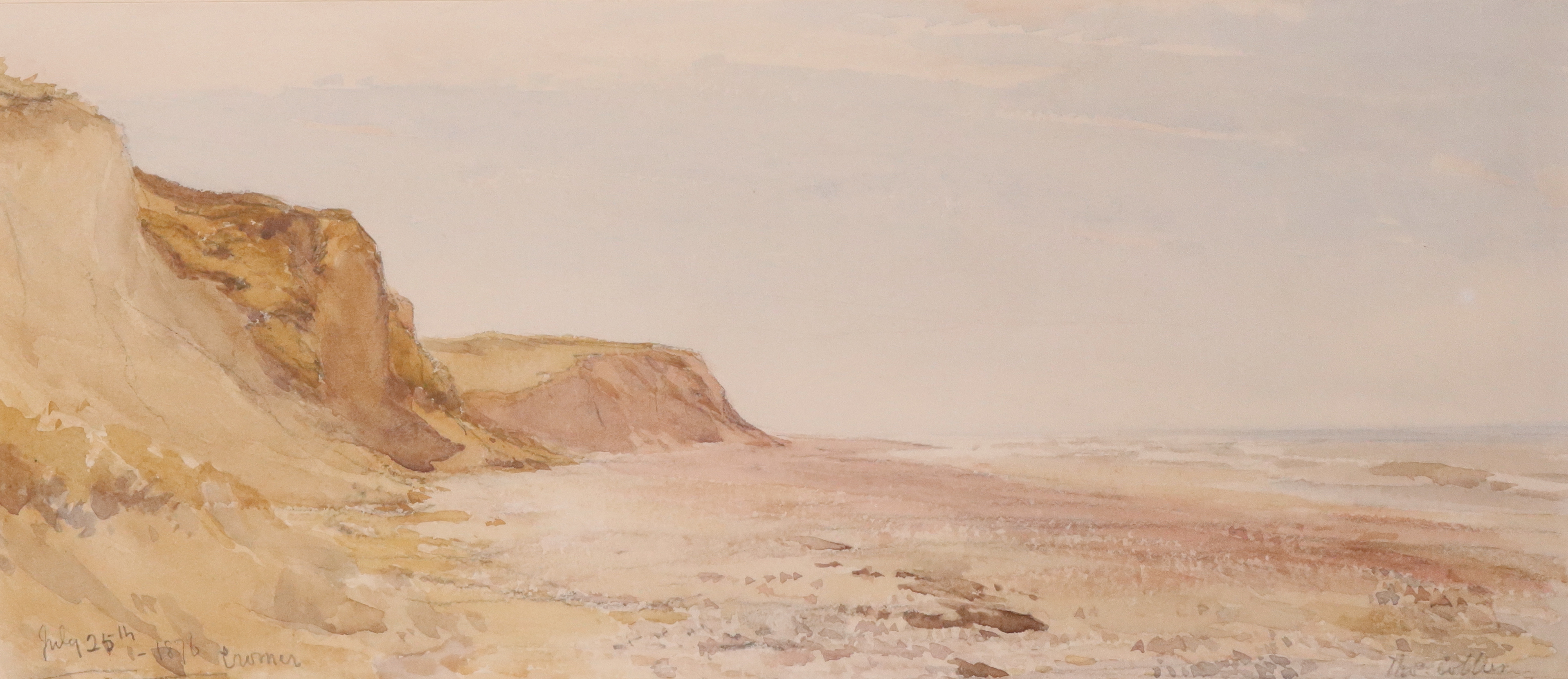 Thomas Collier (1840-1891) Low tide, Cromer Signed Thos Collier (lower right) and inscribed and - Image 4 of 4