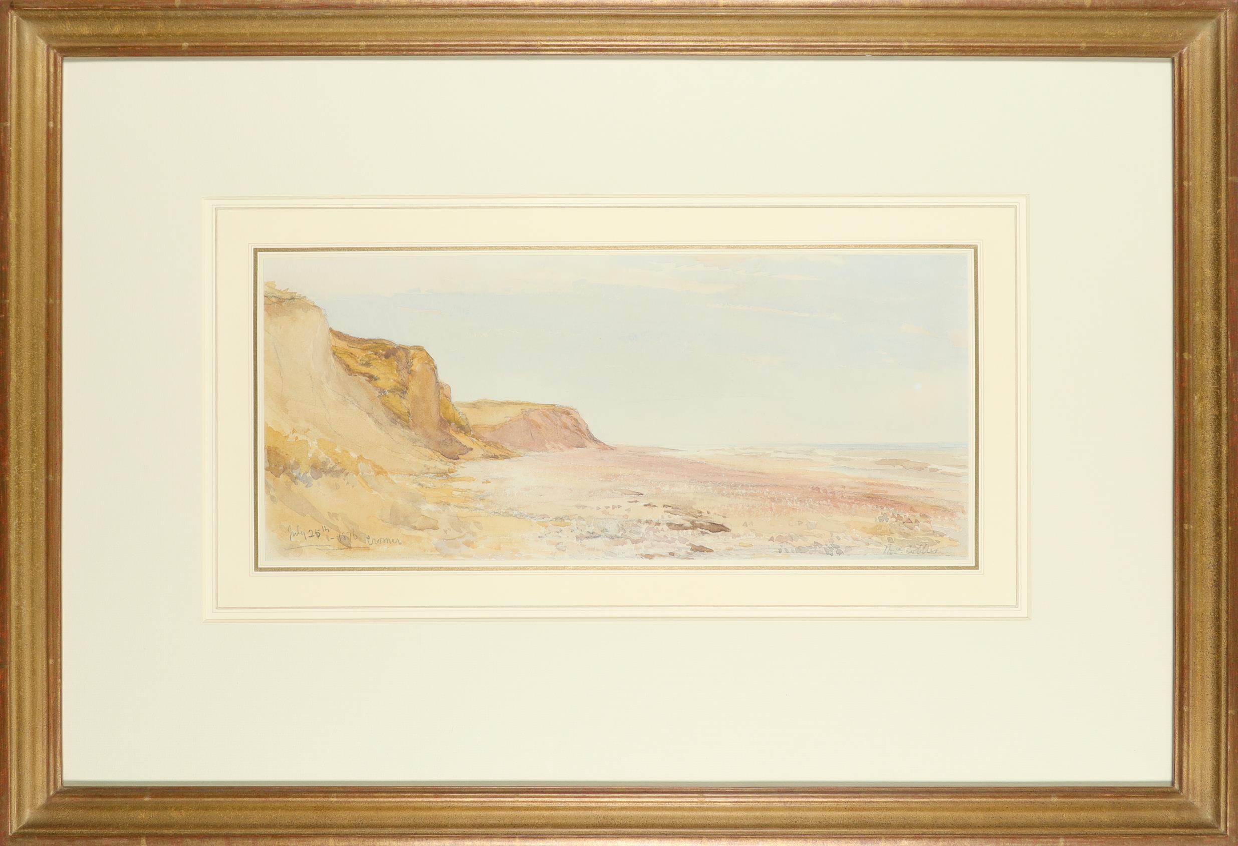 Thomas Collier (1840-1891) Low tide, Cromer Signed Thos Collier (lower right) and inscribed and - Image 2 of 4