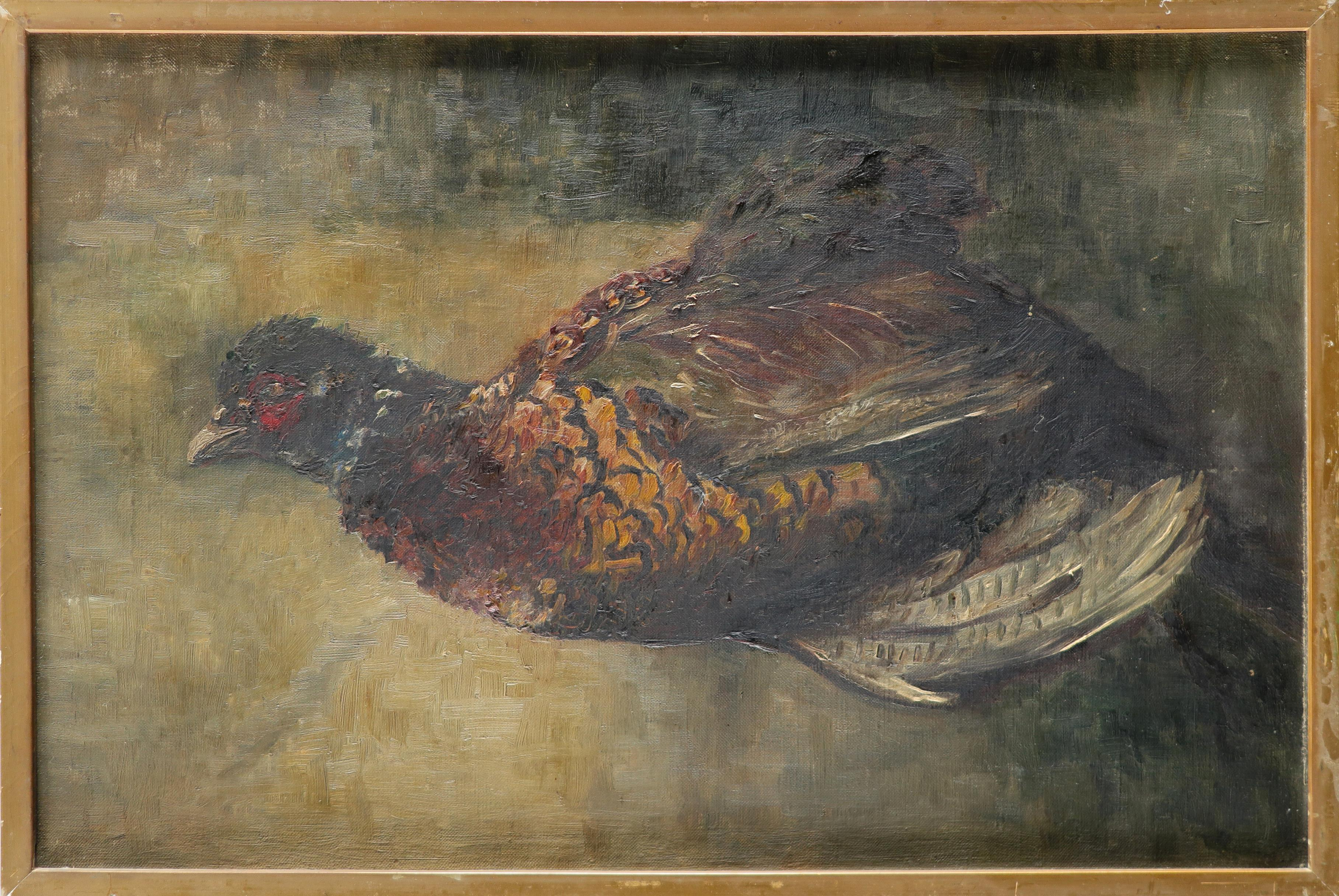 Jacques-Émile Blanche (French 1861-1942) Study of a pheasant Oil on canvas 35.6 x 53.5cm; 14 x - Image 2 of 3