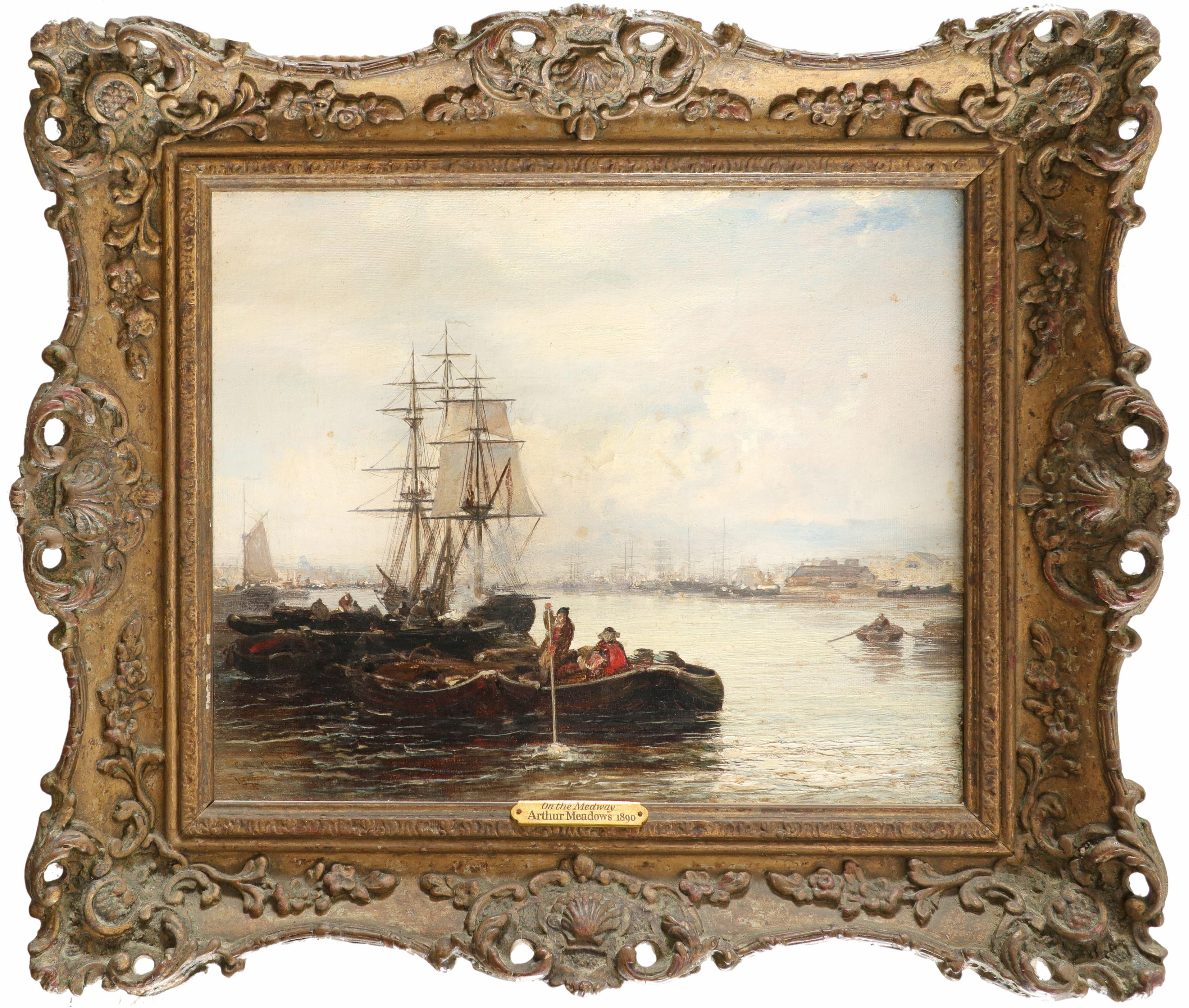 Arthur Joseph Meadows (1843-1907) On the Medway; Off the Dutch coast A pair, both signed and dated - Image 2 of 6
