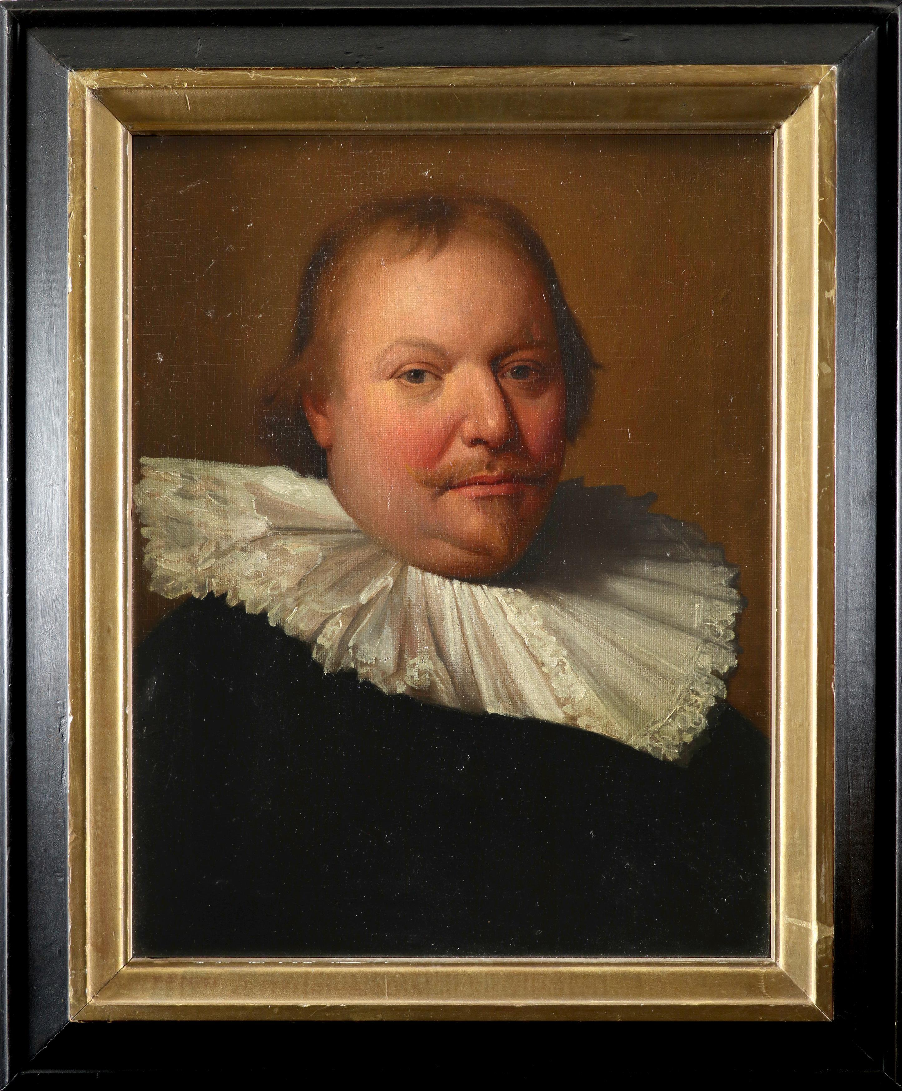 Follower of Michiel Jansz. van Mierevelt Portrait of a gentleman, bust-length, wearing a ruff Oil on - Image 2 of 3