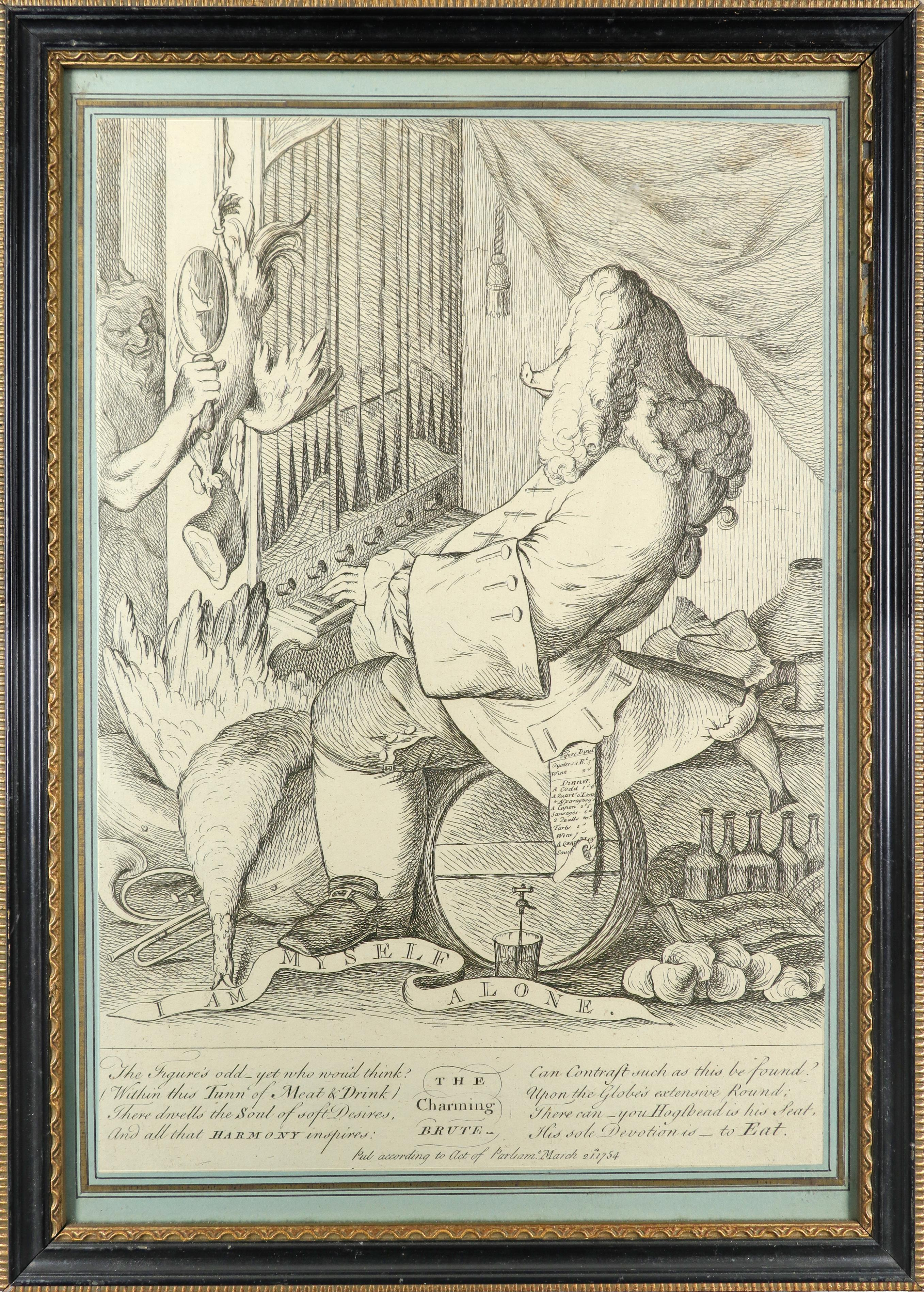 English School 1754 The Charming Brute: A Satire on Handel Etching 33.2 x 23.5cm; 13 x 9¼in ( - Image 2 of 18
