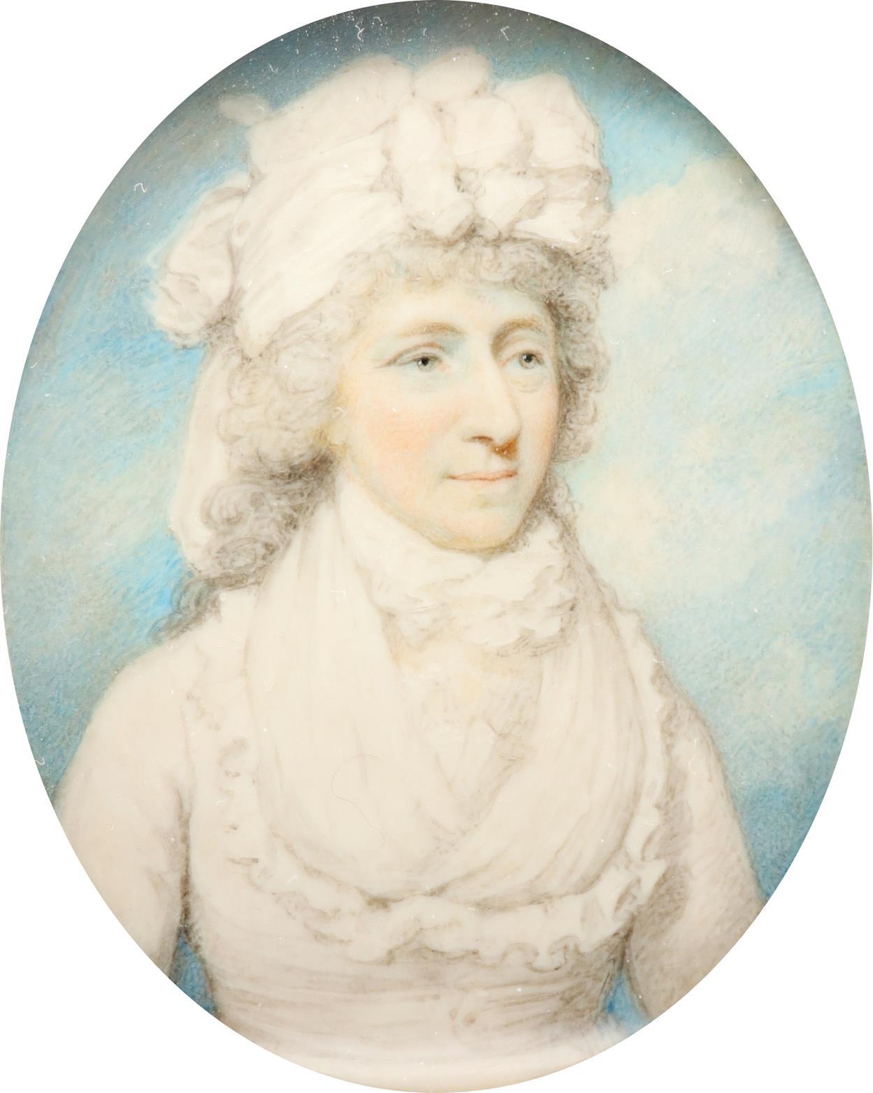 λHenry Edridge ARA (1768-1821) Portrait miniature of a lady, traditionally identified as Mrs James - Image 2 of 3