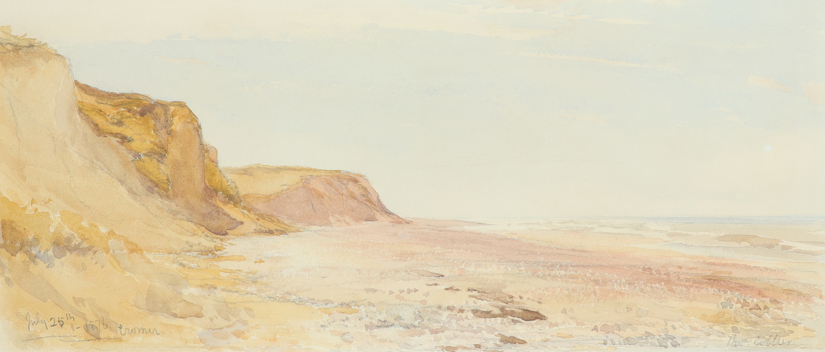 Thomas Collier (1840-1891) Low tide, Cromer Signed Thos Collier (lower right) and inscribed and